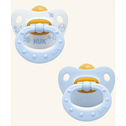 Chupete Nukete Baby T1 Latex Blue 2 Und.