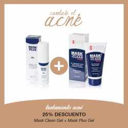 Tratamiento Acné Mask Clean Gel + Mask Plus Gel