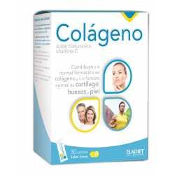 Colágeno hialurónico y vitamina C Eladiet 30 sobres