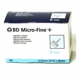 Aguja Microfine Pluma Tw 0,25X8 mm 100 uds