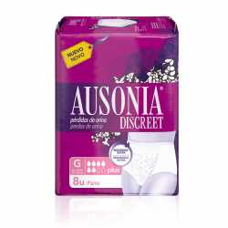 Ausonia Discreet Pants Plus T/G 8 Uds