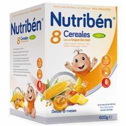 Nutriben 8 Cereales/Miel 4 Frutas 600 Gr