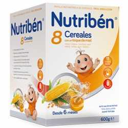 Nutriben 8 Cereales Miel 600 Gr.