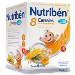Nutriben 8 Cereales Miel C/Leche 600 Gr.