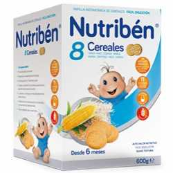 Nutriben 8 Cereales Galleta Maria 600Gr.