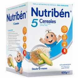Nutriben 5 Cereales 600 Gr.