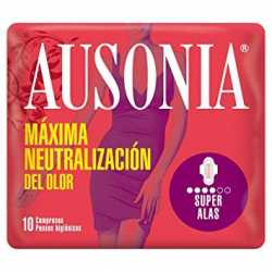 Compresas Ausonia Super Alas 10 uds