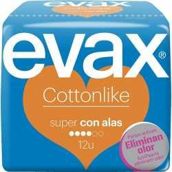 Compresas Evax Cottonlike Super Alas 12 uds