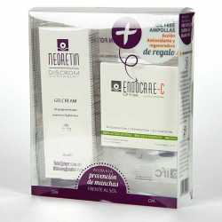 Pack Neoretin Discrom Control Gelcrema Despigmentante 50Spf 40 Ml + Endocare-C Oil Free Ampollas Antioxidantes