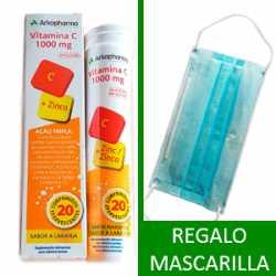 Mascarilla y vitamina c y zinc Arkopharma