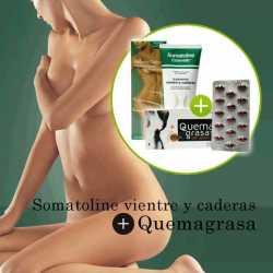 SOMATOLINE VIENTRE Y CADERAS 150 ml+QUEMAGRASAS ABDOMINAL NC