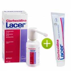 CLORHEXIDINA LACER SPRAY 40 ML + LACER CLORHEXIDINA PASTA DENTÍFRICA