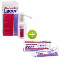 CLORHEXIDINA LACER SPRAY 40 ML + LACER GEL BIOADHESIVO CLORHEXIDINA