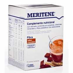 MERITENE FIBRA BATIDO CHOCOLATE ESTUCHE 14 SOBRES