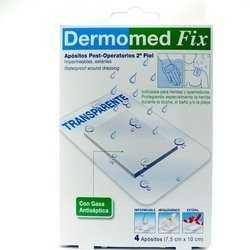 Dermomed Fix Segunda Piel Apósito Esteril 10 cm x 7.5 cm 4 unidades