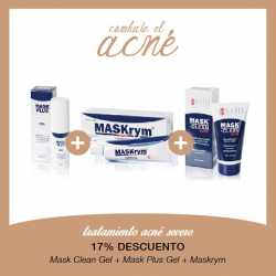 Tratamiento Acné Severo Mask Clean Gel + Mask Plus Gel + Maskrym